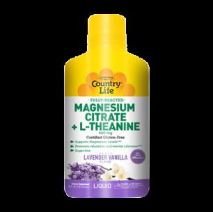 Liquid Magnesium Citrate + L-Theanine Lavender Vanilla