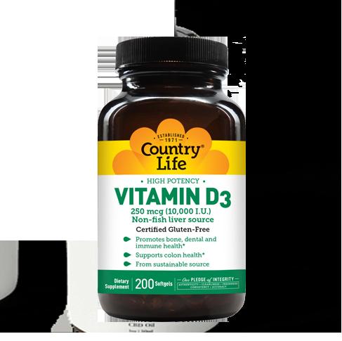 Vitamin D3 10,000 I.U.