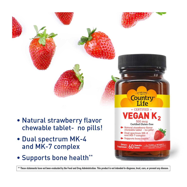 Vegan K2 Chewable Tablets