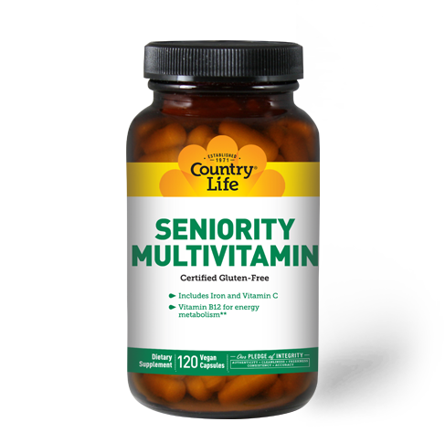 Seniority Multivitamin (120 capsules) - Country Life Vitamins